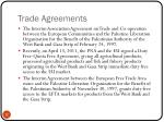 trade agreements