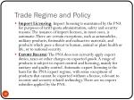trade regime and policy2