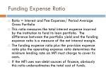 funding expense ratio