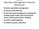 chp 12 operations management financial dimensions