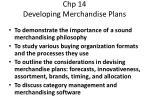 chp 14 developing merchandise plans