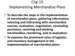 chp 15 implementing merchandise plans