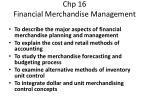 chp 16 financial merchandise management