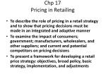 chp 17 pricing in retailing