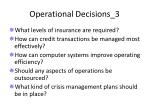operational decisions 3