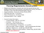 fencing requirements construction