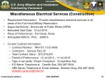 miscellaneous electrical services construction