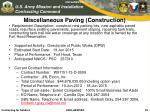 miscellaneous paving construction