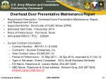 overhead door preventative maintenance repair