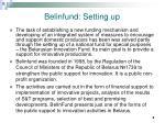 belinfund setting up