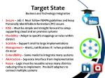 target state business and technology integration
