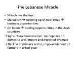 the lebanese miracle