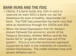 bank runs and the fdic