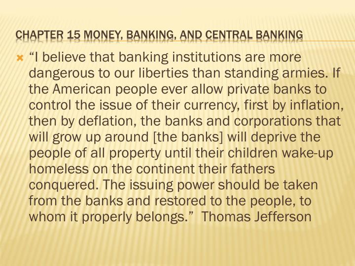 chapter 15 money banking and central banking n.
