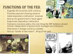 functions of the fed
