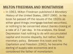 milton friedman and monetarism