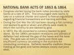 national bank acts of 1863 1864