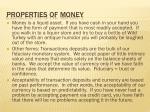 properties of money