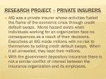 research project private insurers