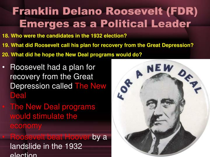 a view on franklin delano roosevelts new deal