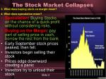 the stock market collapses