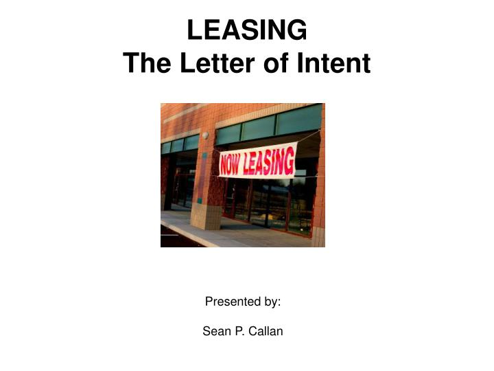 leasing the letter of intent n.