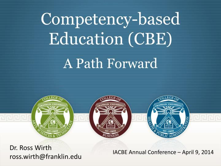 competency based education cbe a path forward n.