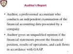 auditor s report