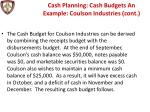 cash planning cash budgets an example coulson industries cont2