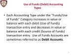 use of funds debit accounting types