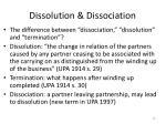 dissolution dissociation