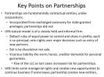 key points on partnerships