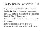limited liability partnership llp