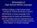 advantages of high school world language