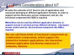 some considerations about iot