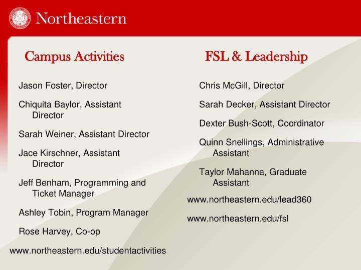 Campus activities fsl leadership