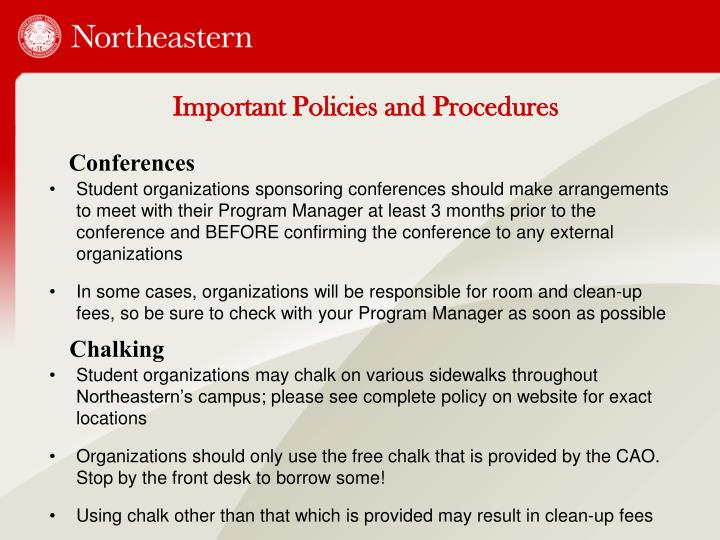 Important Policies and Procedures