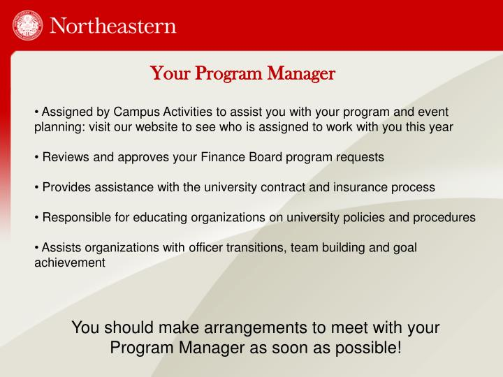 Your Program Manager
