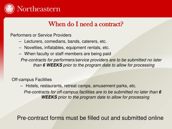 When do I need a contract?