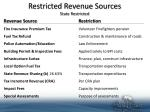 restricted revenue sources state restricted