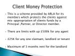 client money protection