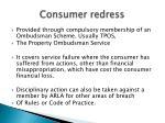 consumer redress