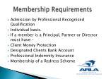 membership requirements