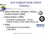 and magical lands where industry