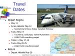 travel dates