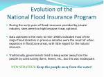 evolution of the national flood insurance program