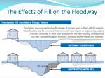 the effects of fill on the floodway