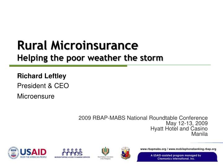 rural microinsurance helping the poor weather the storm n.