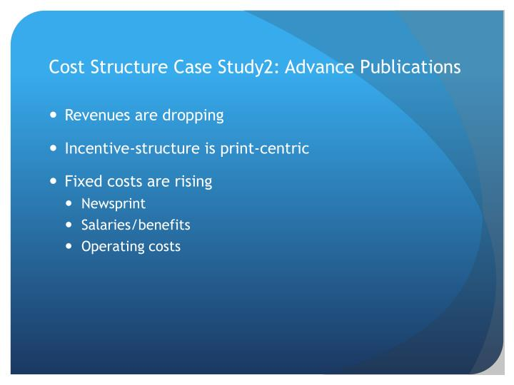 Cost Structure Case