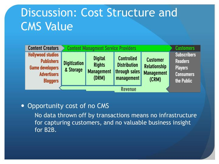 Discussion: Cost Structure and CMS Value